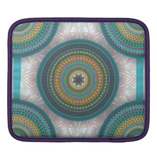 Colorful abstract ethnic floral mandala pattern sleeve for iPads