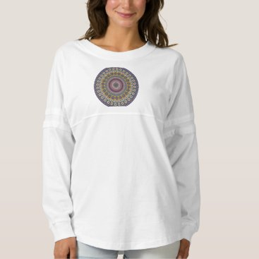 Aztec Themed Colorful abstract ethnic floral mandala pattern spirit jersey