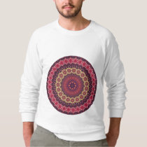 Colorful abstract ethnic floral mandala pattern sweatshirt