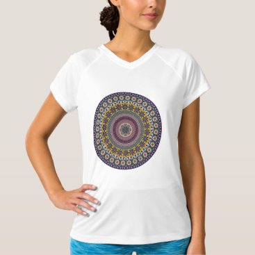 Aztec Themed Colorful abstract ethnic floral mandala pattern T-Shirt