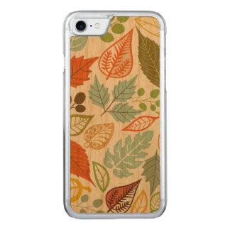 Colorful Abstract Fall Leafs Pattern Carved iPhone 7 Case