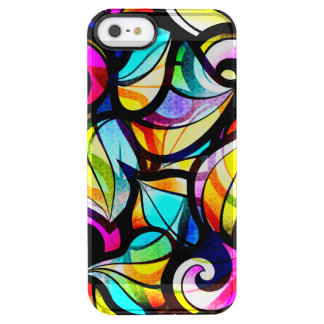 Colorful Abstract Faux Stained Glass Look Clear iPhone SE/5/5s Case