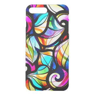 Colorful Abstract Faux Stained Glass Look iPhone 8 Plus/7 Plus Case