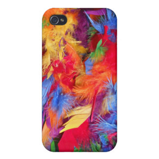 Colorful Abstract Feathers Cases For iPhone 4