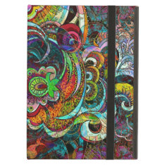 Colorful Abstract Floral Collage Ipad Air Cover at Zazzle