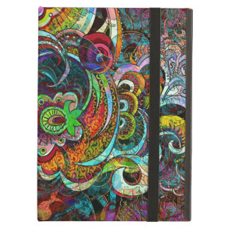 Colorful Abstract Floral Collage iPad Air Covers