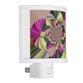 Colorful Abstract Floral Pattern Night Light
