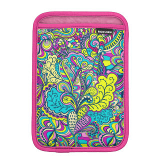 Colorful Abstract Floral Swirls Collage iPad Mini Sleeve