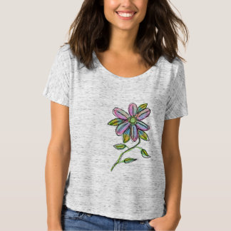 Colorful Abstract Floral Wearable Art T-Shirt