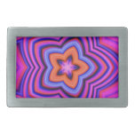 Colorful Abstract Flower Art Belt Buckles