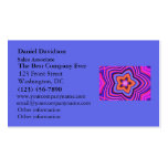 Colorful Abstract Flower Art Business Card Templates