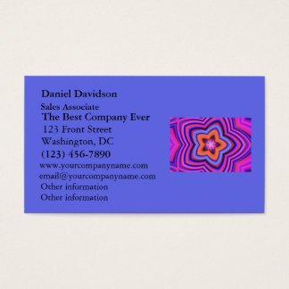 Colorful Abstract Flower Art Business Card