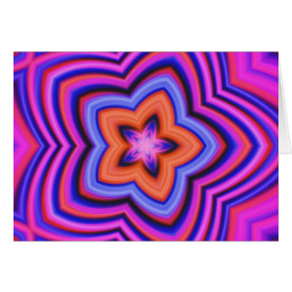 Colorful Abstract Flower Art Card