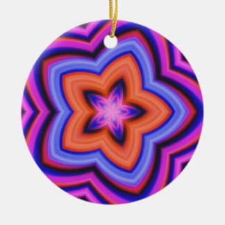 Colorful Abstract Flower Art Ceramic Ornament