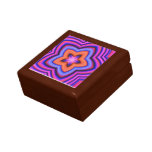 Colorful Abstract Flower Art Keepsake Box
