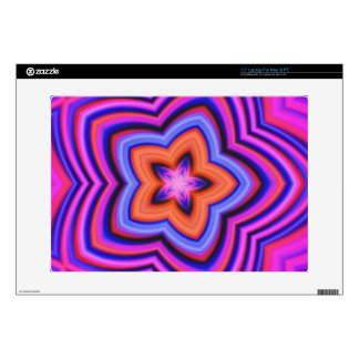 Colorful Abstract Flower Art Laptop Skin