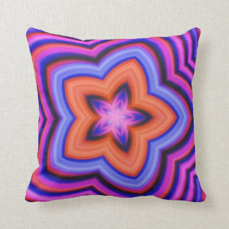 Colorful Abstract Flower Art Pillows
