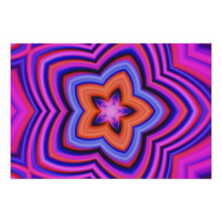 Colorful Abstract Flower Art Posters
