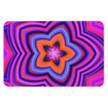 Colorful Abstract Flower Art Rectangle Magnets