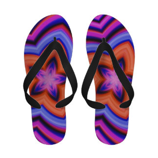 Colorful Abstract Flower Art Sandals
