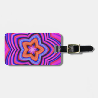 Colorful Abstract Flower Art Travel Bag Tag