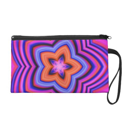 Colorful Abstract Flower Art Wristlets