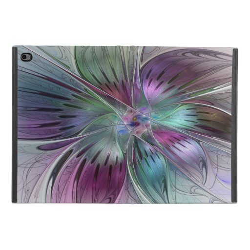Colorful Abstract Flower Modern Floral Fractal Art iPad Mini 4 Case