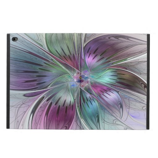 Colorful Abstract Flower Modern Floral Fractal Art Powis iPad Air 2 Case