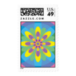Colorful Abstract Flower Postage