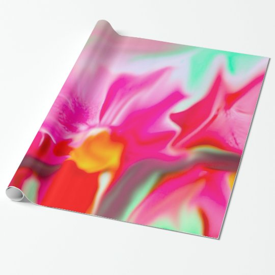 colorful abstract flower wrapping paper