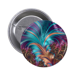 Colorful Abstract Fractal Art Button
