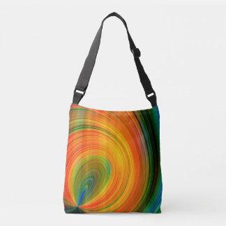 Colorful abstract Fractal Art Crossbody Bag