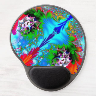 Colorful Abstract Fractal Art Gel Mouse Pad
