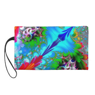 Colorful Abstract Fractal Art Wristlet