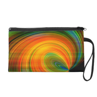 Colorful abstract Fractal Art Wristlet Purse