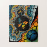 colorful abstract Fractal Butterfly Cacoon puzzle
