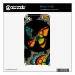 colorful abstract Fractal Butterfly Cacoon skin iPhone 4S Skins