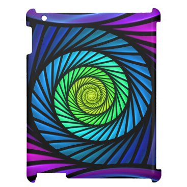 Christmas Themed Colorful Abstract Fractal Savvy iPad 2-3-4 Case iPad Cases