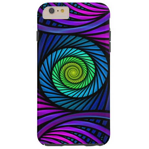 Colorful Abstract Fractal Tough iPhone 6 Plus Case