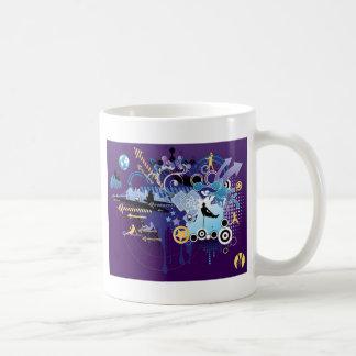 Colorful abstract fun graphic design coffee mug