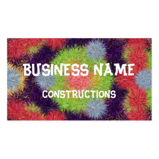 Colorful abstract furry brush pattern Double-Sided standard business cards (Pack of 100)