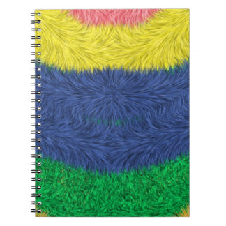 Colorful abstract furry pattern spiral notebook