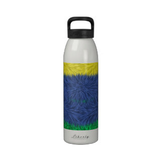 Colorful abstract furry pattern reusable water bottle
