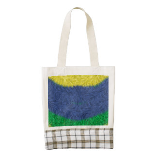 Colorful abstract furry pattern zazzle HEART tote bag
