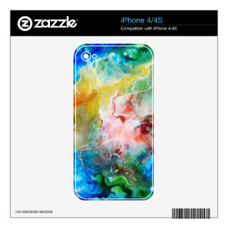 Colorful abstract galaxy painting decal for the iPhone 4