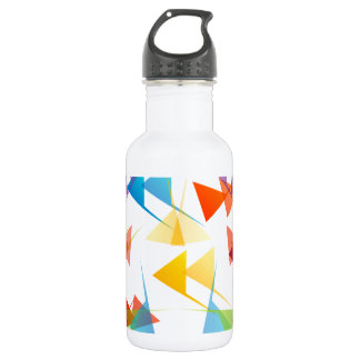 Colorful abstract geometric background stainless steel water bottle