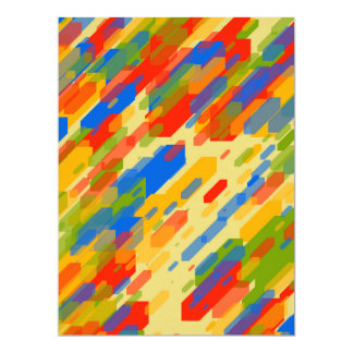 colorful abstract geometric cool looking design card