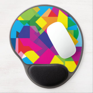 Colorful Abstract Geometric Pattern Gel Mouse Pad