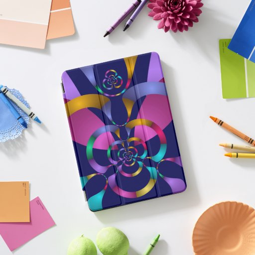 Colorful Abstract Geometric Pattern iPad Pro Cover