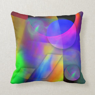 Colorful Abstract & Geometric Shapes Throw Pillow